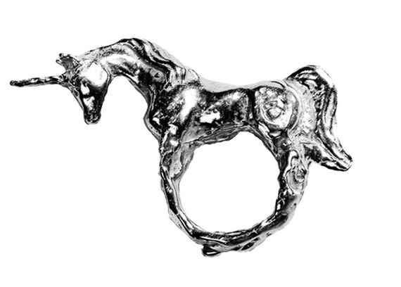 Unicorn Ring in Silver
