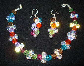 Swarovski Sparkle Bracelet and Earring Set
