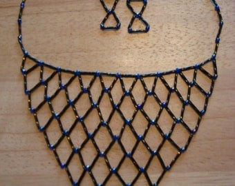 Blue Netting Necklace