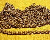 Vintage Double Link Copper Clad Chain 5 Feet
