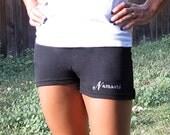 Namaste Embroidered Shorts in Black- Large