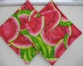 Watermelon Pot Holders set of 2