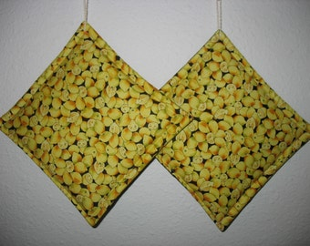 Lemon Pot Holders set of 2