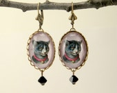 Fancy Feline Cat Earrings