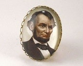 Abe the Babe Cocktail Ring Our great Abraham Lincoln Cocktail Ring