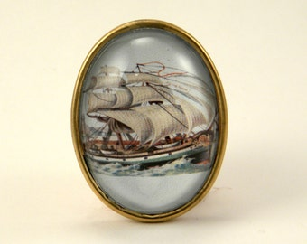 Smooth Sailing Clipper Ship Brooch For Your Seafaring Heart
