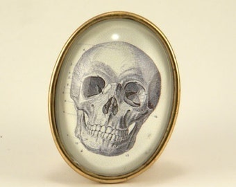To Be or Not To Be Vintage inspired Skull Brooch classic victorian style Halloween Wear