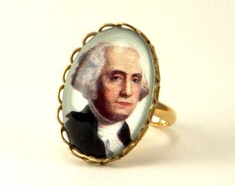 Little George Washington Petite Ring Historic Jewelry Monumental Presidential