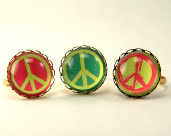 Peace Rally Vintage Peace Symbol Ring