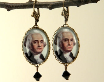 George Washington Earrings Presidential Jewelry