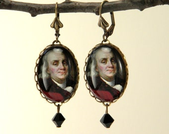 Ben Franklin Earrings Founding Father