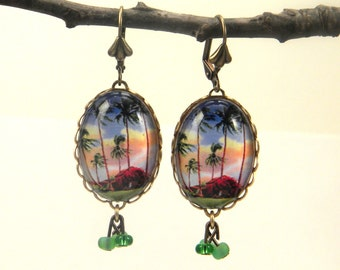 Little Grass Shack Earrings - Aloha from the tropics