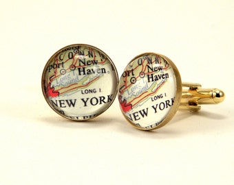 New York Map Cuff Links If you wear it there, you can wear it anywhere.
