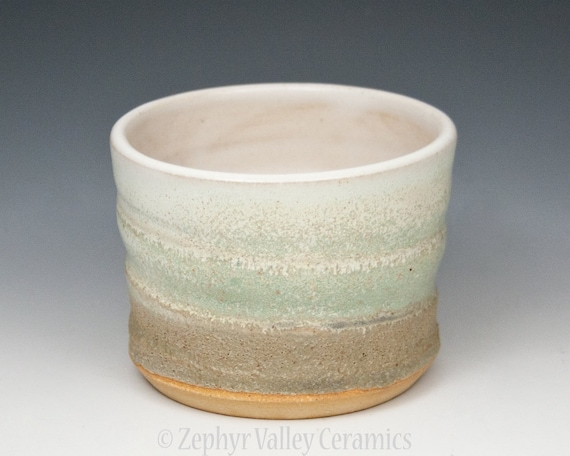 Green Ceramic Whiskey on the Rocks Cup