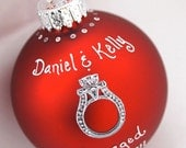 Custom Wedding/Engagement Ring Ornament in Red