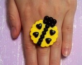 lady luv bug ring
