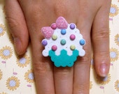 rainbow sprinkled cupcake ring