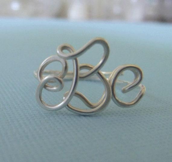 Handcrafted Monogram Ring (SS), monogram ring