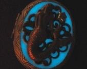 Vintage Mermaid Glow Locket