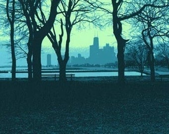 Lakefront II--5x7 archival fine art print with 8x10 mat