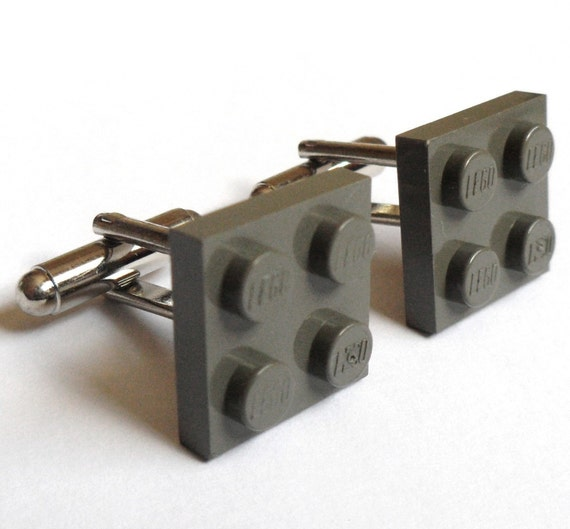 Dark Gray Tile Cufflinks