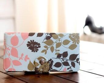 BiFold Wallet Clutch - Handmade Wallet - Vegan Wallet / Smoky Mountain Forest -- PREORDER