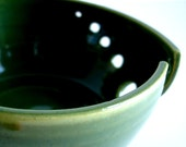 Green  Ceramic Wheel Thrown Yarn Bowl - MADE TO ORDER