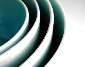 Carolyn Evans & James Dobbin Wedding Registry - Robins Egg Blue Nested Bowl Set
