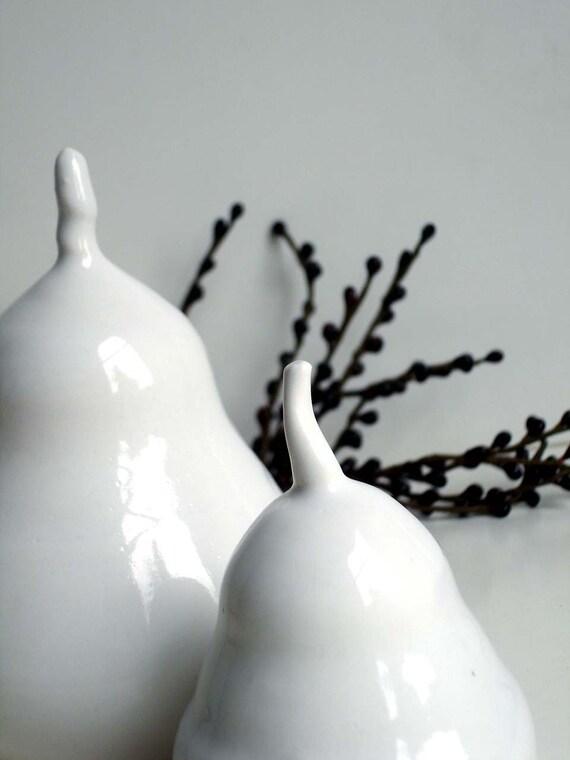 White Porcelain Pear Set