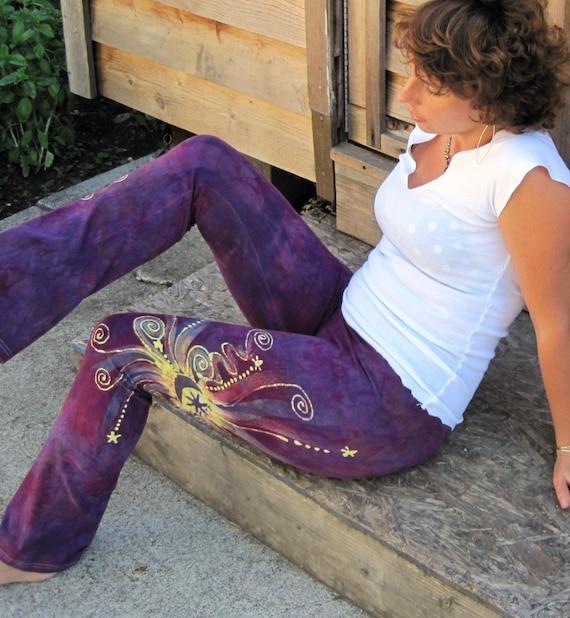 Berry Berry Quite Contrary Batik Yoga Pants