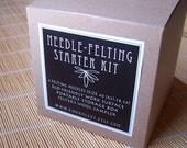 FREE SHIPPING Needle Felting Starter Kit - Naturals