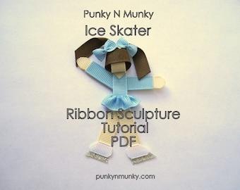 Ice Skater or Figure Skater Ribbon Sculpture Instructions Tutorial INSTANT DOWNLOAD