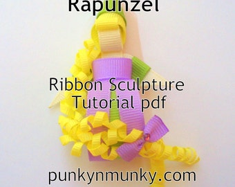 How To Make Rapunzel Ribbon Sculpture Tutorial Ebook PDF INSTANT DOWNLOAD