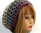Indie Slouch Hat in Gray and Heather
