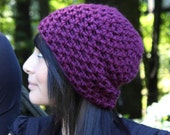The Lighthouse keeper Hat tuque beanie winter eggplant purple