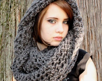 The Favorite Cowl neck Scarf Wool warmer Slate Grey