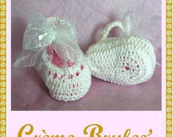 Creme Brulee-Ballerina Bootie in Light Pink- 3 sizes including PREEMIE
