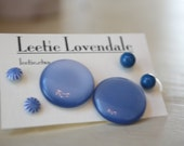 Skies and Sapphires Blue Earring Set - Lucite Post Earrings - Color Story Dotties and Posties