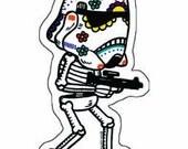 Storm Trooper Calavera Die Cut Vinyl Sticker