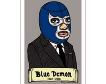 Blue Demon Small Vinyl Sticker