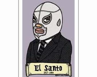 El Santo Small Vinyl Sticker