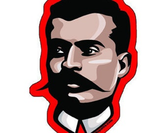 Emiliano Zapata Die Cut Vinyl Sticker