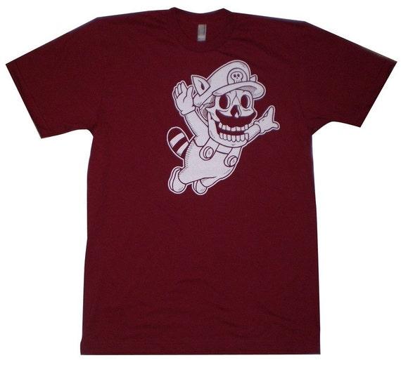 Super Mario Skull Men's T-Shirt S, M, L, XL in 6 Colors