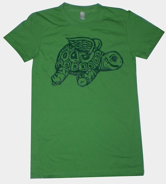 Flying Tortoise Womens T-Shirt S, M, L, XL in 6 Colors