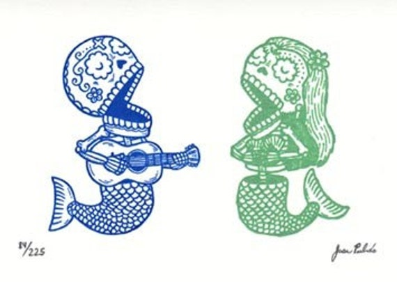 Sirena Serenata Gocco Serigraph Artist Proof