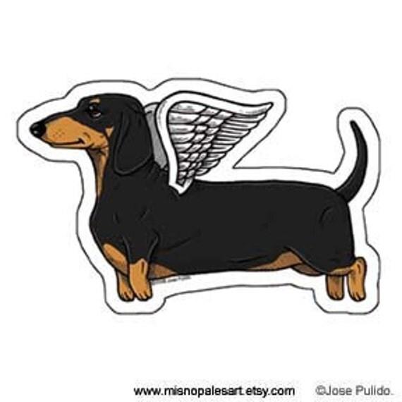 Flying Dachshund Die Cut Vinyl Sticker