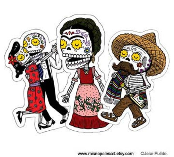 Calaveras Vinyl Sticker 3-Pack