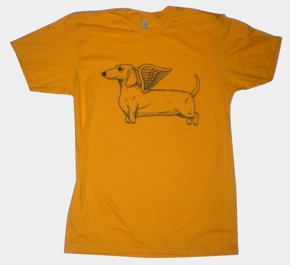 Flying Dachshund Mens T-Shirt S, M, L, XL in 9 Colors