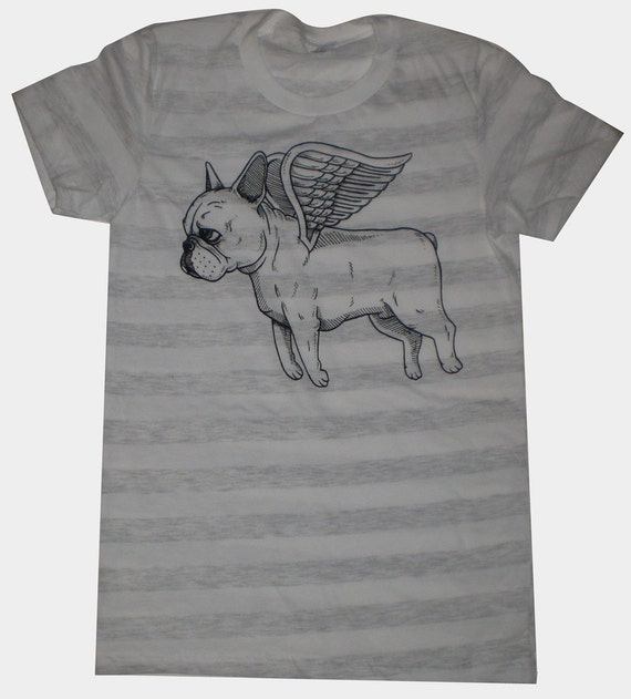 Flying French Bulldog Womens T-Shirt S, M, L, XL in 9 Colors