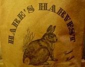 Primitive Luminary Feedsack Bag Hares Harvest Rabbit
